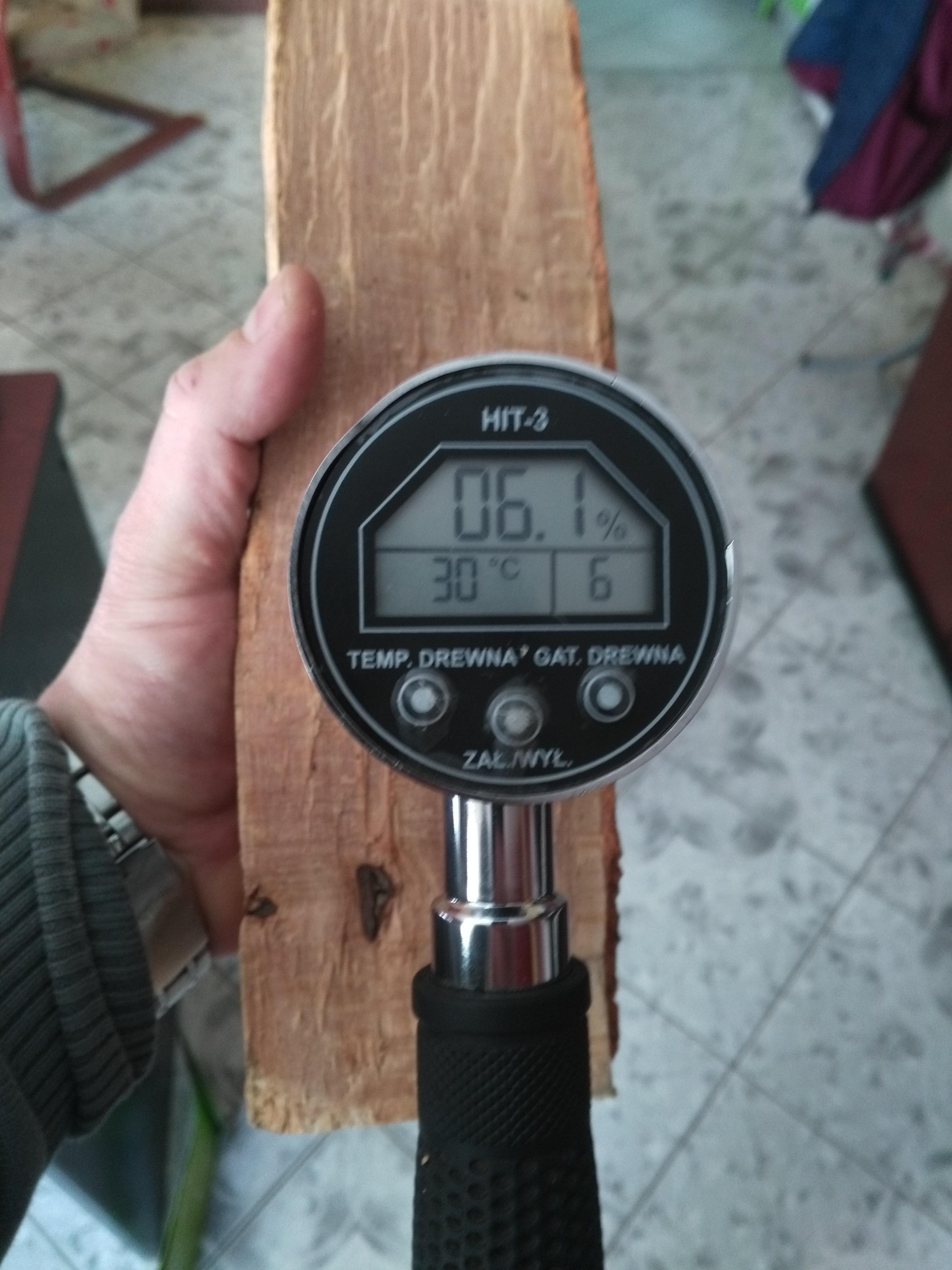 Drewno export, Wilgotnosc